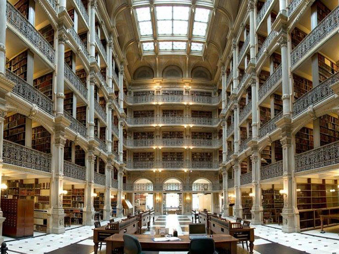 Biblioteca George Peabody Baltimora Maryland